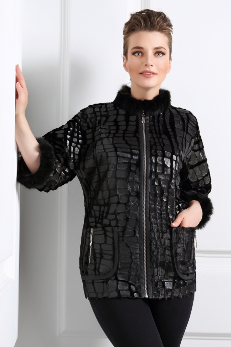 Куртки DiLiaFashion 0039 черный