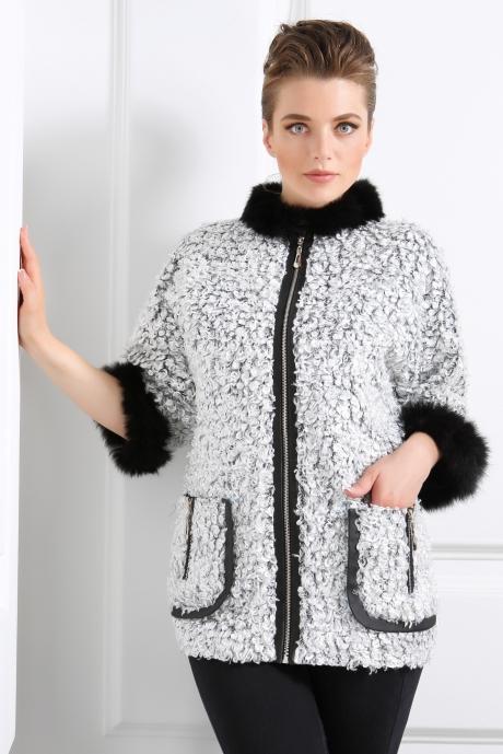 Куртки DiLiaFashion 0039 серый барашек