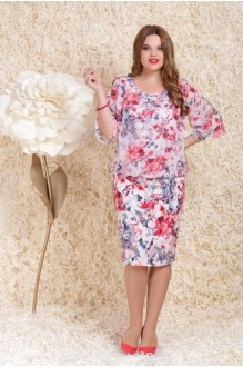 Повседневные платья LeNata  11739 розовые цветы фото 1