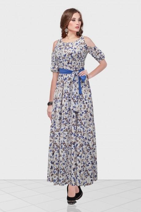 Длинные платья Condra 4632 синий