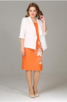 Модель Джерза 2156 белый+оранжевый