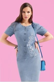 Юбочные костюмы /комплекты Lissana 3122 синий фото 3