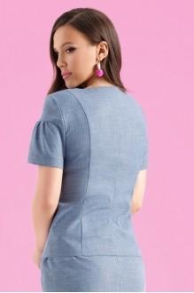 Юбочные костюмы /комплекты Lissana 3122 синий фото 4