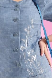 Юбочные костюмы /комплекты Lissana 3122 синий фото 5