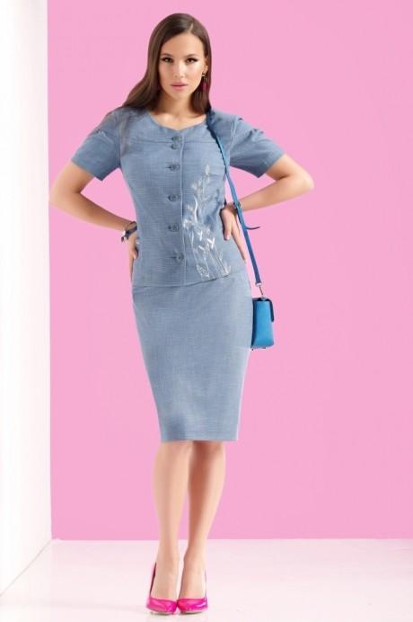 Юбочные костюмы /комплекты Lissana 3122 синий
