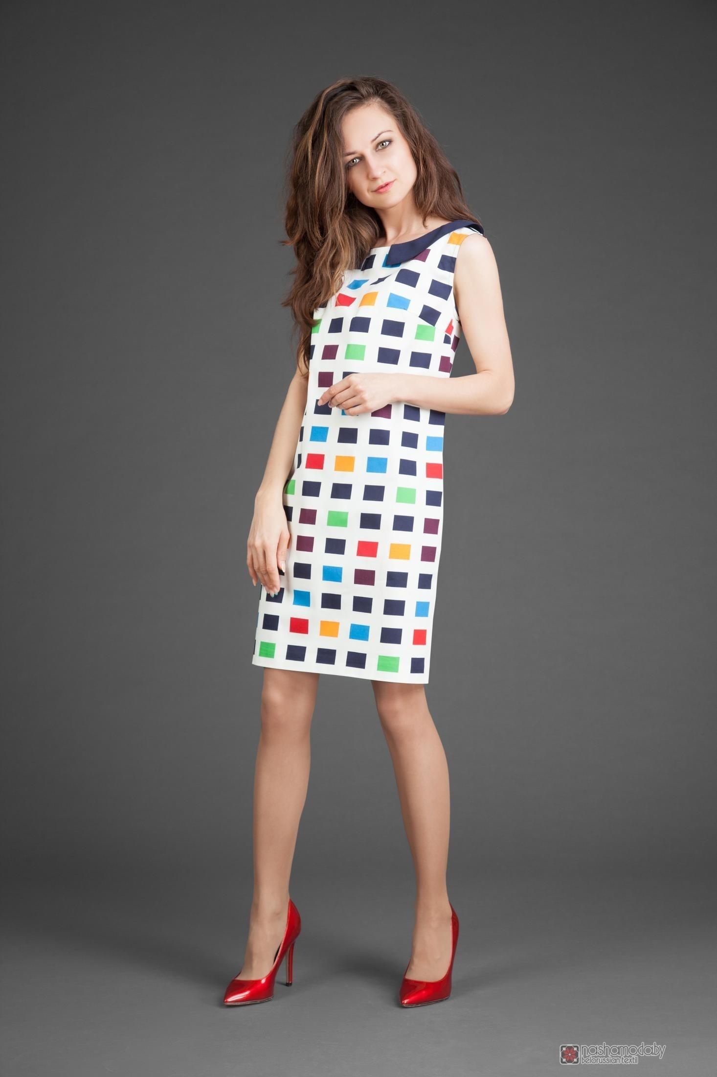 b7daff3341e Летние платья Elpaiz 240 цветные квадраты.